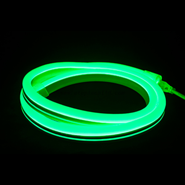 12V 24V Flexible LED Neon Rope Light Silicon Jacket Green